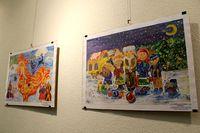 Выставка «Зимняя фантазия» собрала более 100 детских работ